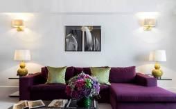 دکوراسیون داخلی منزل,دکوراسیون رنگ بنفش,طراحی دکوراسیون منزل